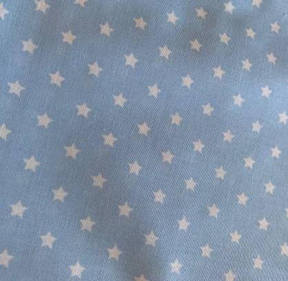 Halstuch für Hunde - Stoffe auf Lager - hellblau mit Sternen
