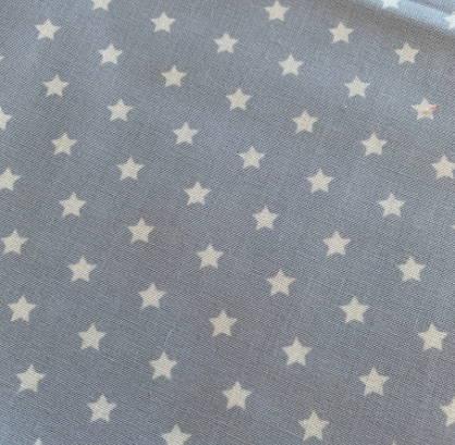 Halstuch für Hunde - Stoffe auf Lager - hellgrau mit Sternen