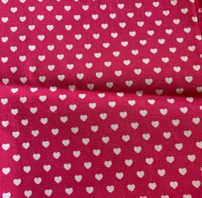 Halstuch für Hunde - Stoffe auf Lager - pink mit Herzen