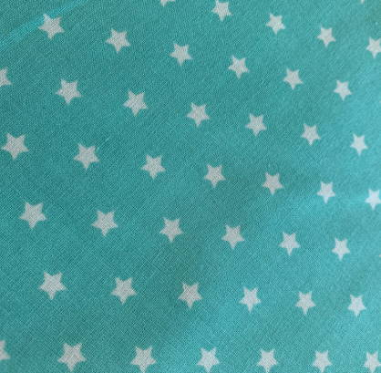 Halstuch für Hunde - Stoffe auf Lager - türkis mit Sternen